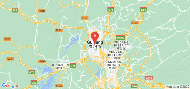 map of Guiyang, China